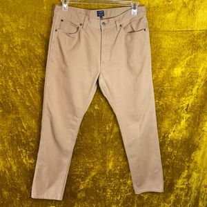 J. Crew Factory The Sutton Corduroy Tan Pant sz33